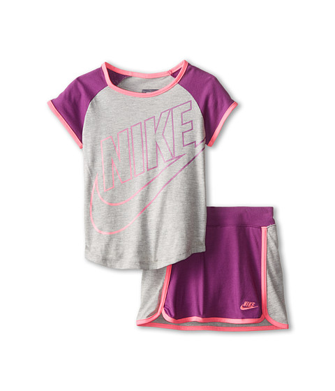 Nike Kids - Futura Short Sleeve Scooter Set (Little Kids) (Bold Berry) Girl