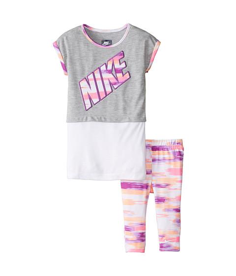 Nike Kids - Chase Stripe Twofer Tunic Capris Set (Little Kids) (Bold Berry) Girl's Active Sets
