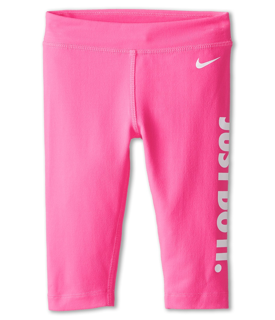 Nike Kids - Leg-A-See Just Do It Capris (Little Kids) (Pink Pow) Girl