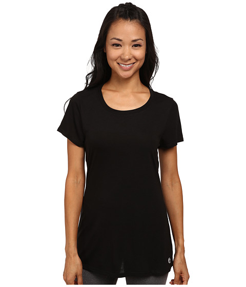 Trina Turk - Open Back Jersey Tee (Black) Women's T Shirt