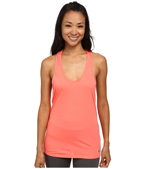 Trina Turk - Draped Back Jersey Tank Top (Neon Coral) Women's Sleeveless