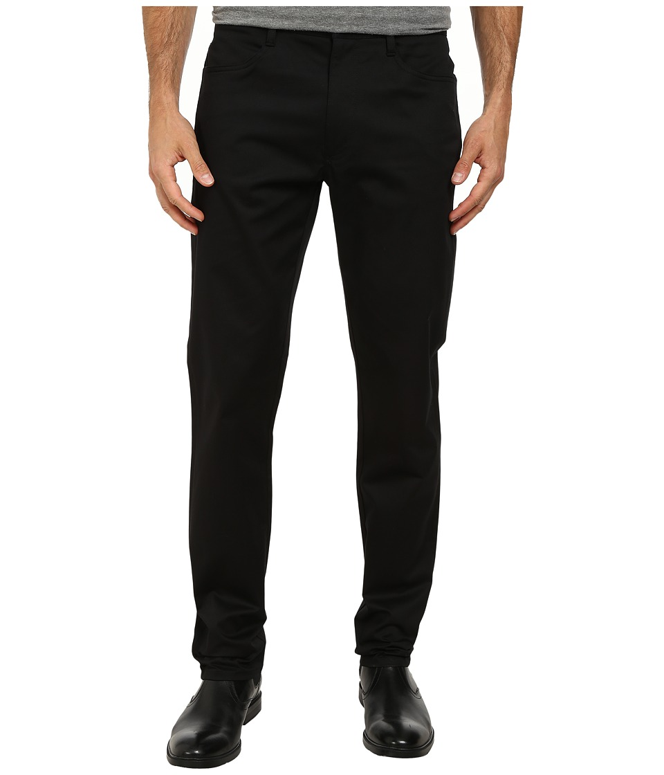 Perry Ellis - Four-Pocket Twill Pants (Black) Men
