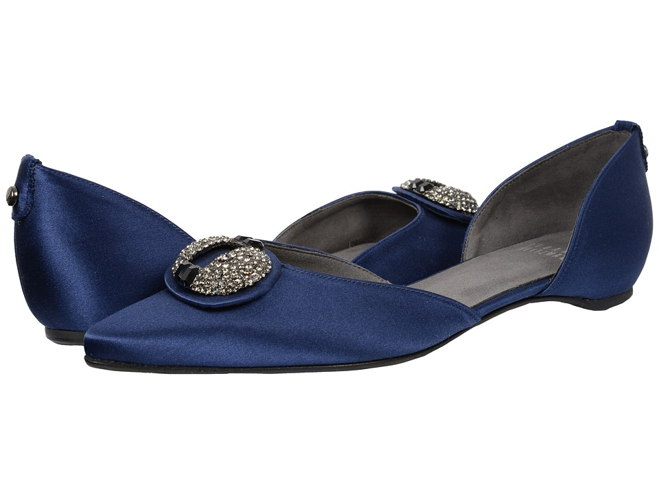 Stuart Weitzman Bridal & Evening Collection - Dome (Midnight Satin) Women's Dress Flat Shoes