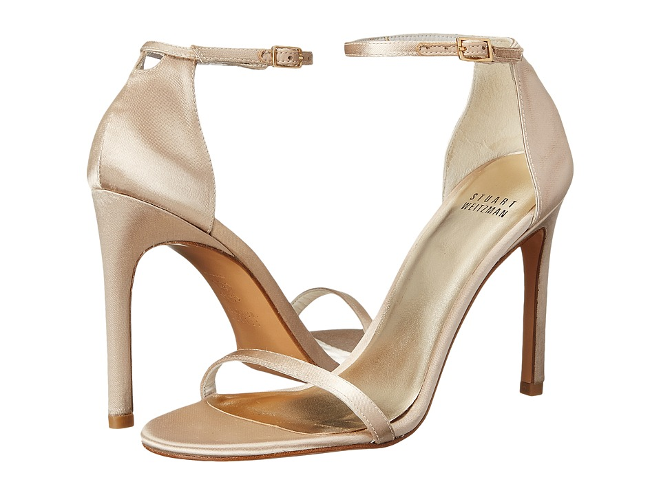 Stuart Weitzman Bridal & Evening Collection Nudistsong (Blonde Satin) High Heels