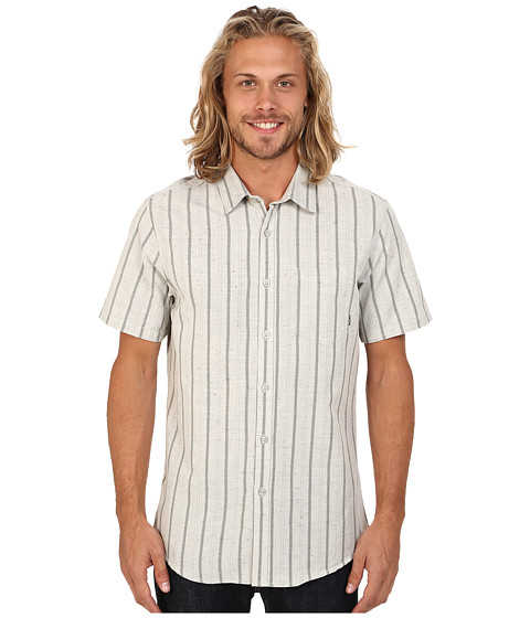 Billabong - Flecks Short Sleeve Button Up Shirt (Eggshell) Men