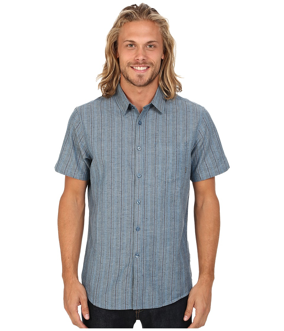 Billabong - Flecks Short Sleeve Button Up Shirt (Indigo) Men