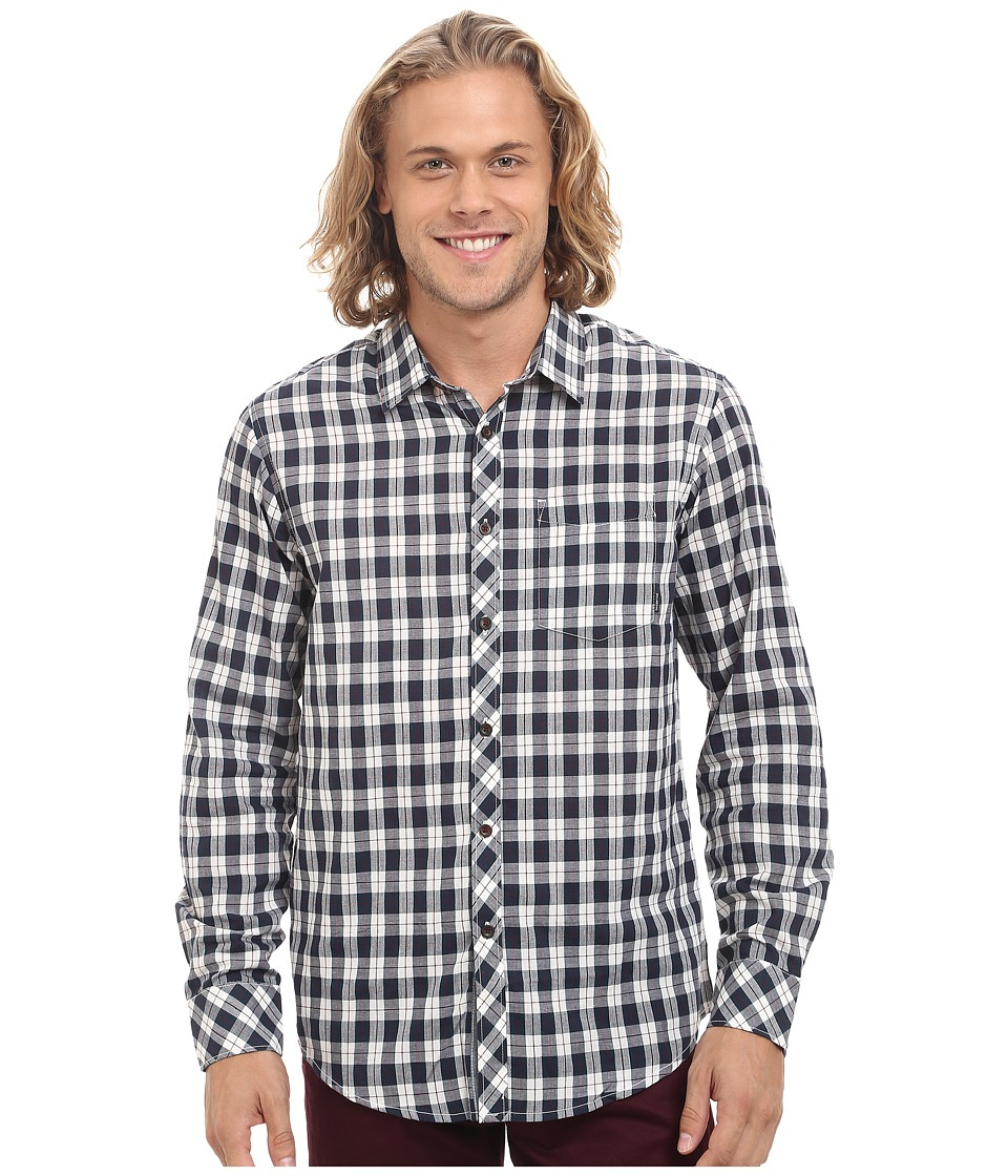 Billabong - Riviera Long Sleeve Button Up Shirt (White) Men's Long Sleeve Button Up
