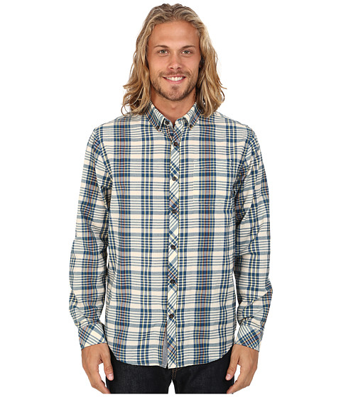 Billabong - Redford Long Sleeve Button Up Shirt (Eggshell) Men's Long Sleeve Button Up
