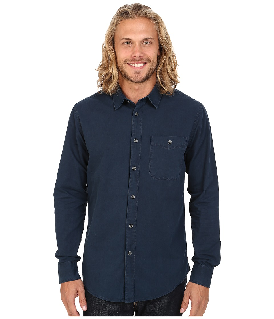 Billabong - Rawlings Long Sleeve Button Up Shirt (Indigo) Men
