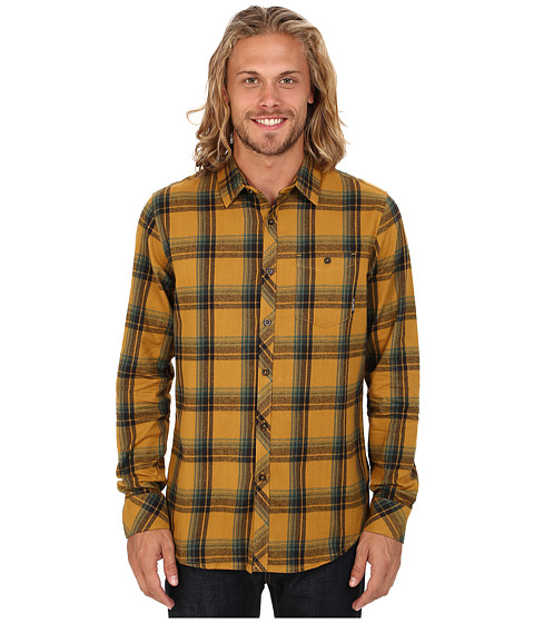 Billabong - Bellford Long Sleeve Button Up Shirt (Caramel) Men's Long Sleeve Button Up