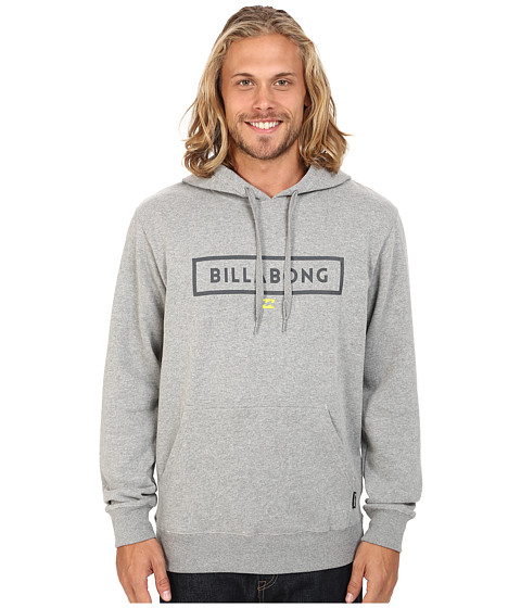 Billabong - Branded Pullover Sweatshirt (Grey Heather) Men