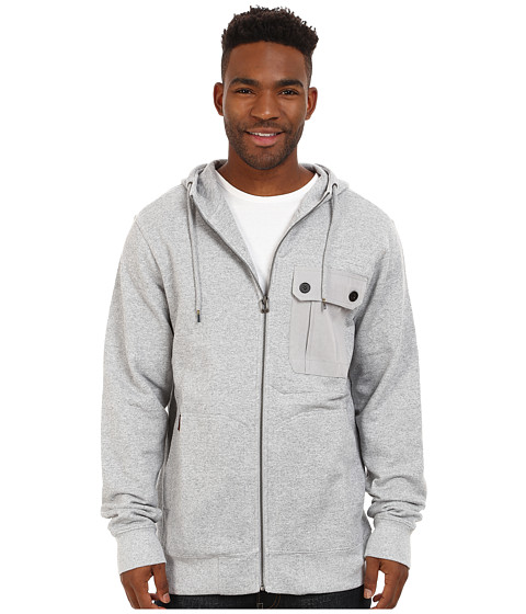 Billabong - Trail Zip Hoodie (Light Grey Heather) Men's Sweatshirt