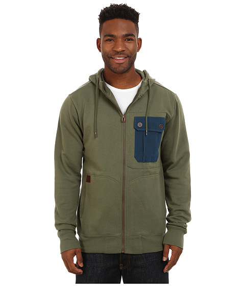 Billabong - Trail Zip Hoodie (Surplus) Men's Sweatshirt