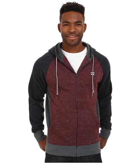 Billabong - Balance Zip Hoodie (Port Heather) Men's Sweatshirt