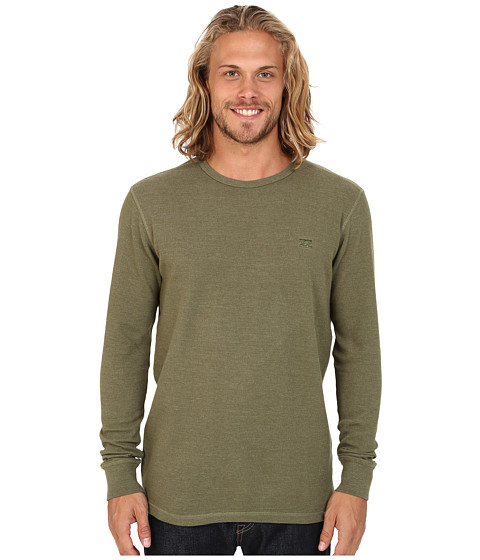 Billabong - Option Thermal Long Sleeve Pullover (Surplus Heather) Men's T Shirt