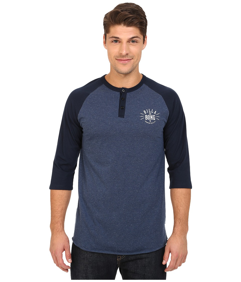 Billabong - Bull Pin Henley (Indigo Heather) Men's T Shirt
