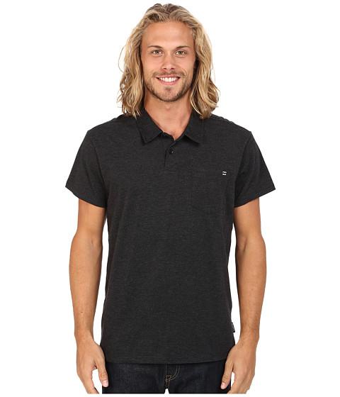 Billabong - Standard Issue Short Sleeve Polo (Black Heather) Men