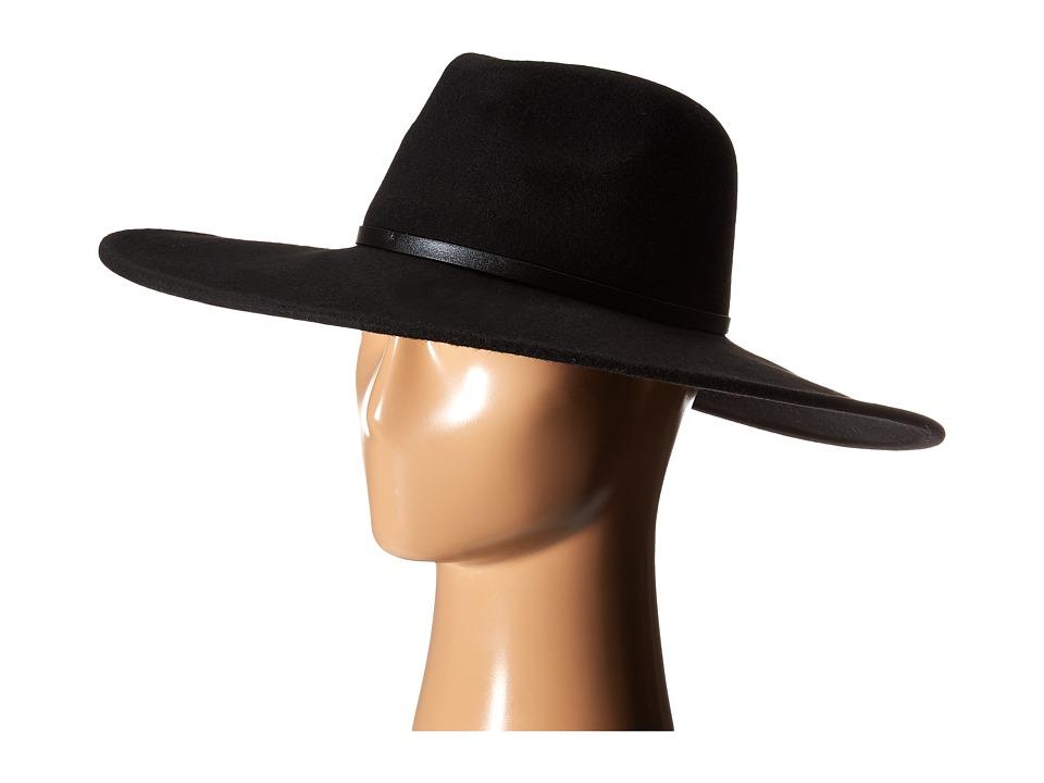 BCBGMAXAZRIA - Grommet Floppy (Black) Traditional Hats