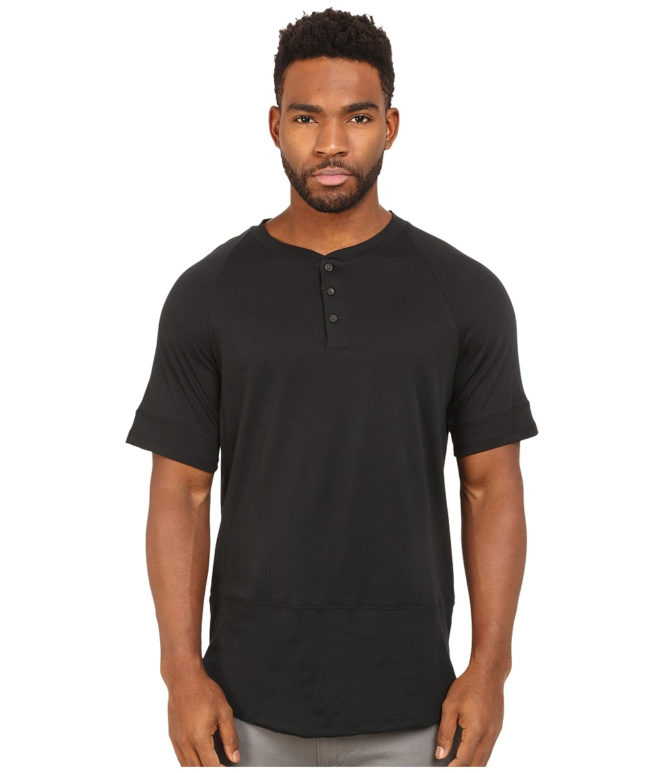 Alternative - Cotton Modal Locals Only Henley (Black) Men