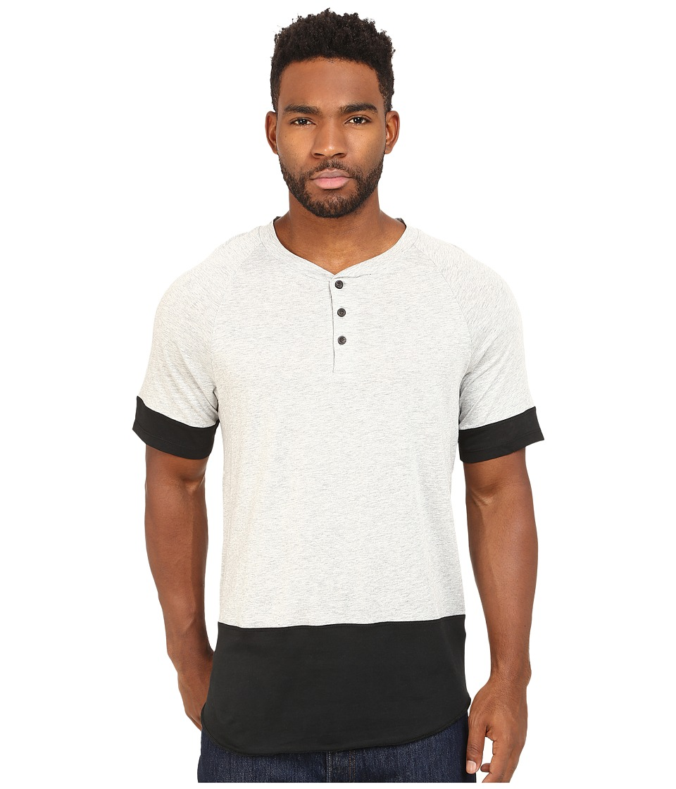 Alternative - Cotton Modal Locals Only Henley (Heather Grey) Men