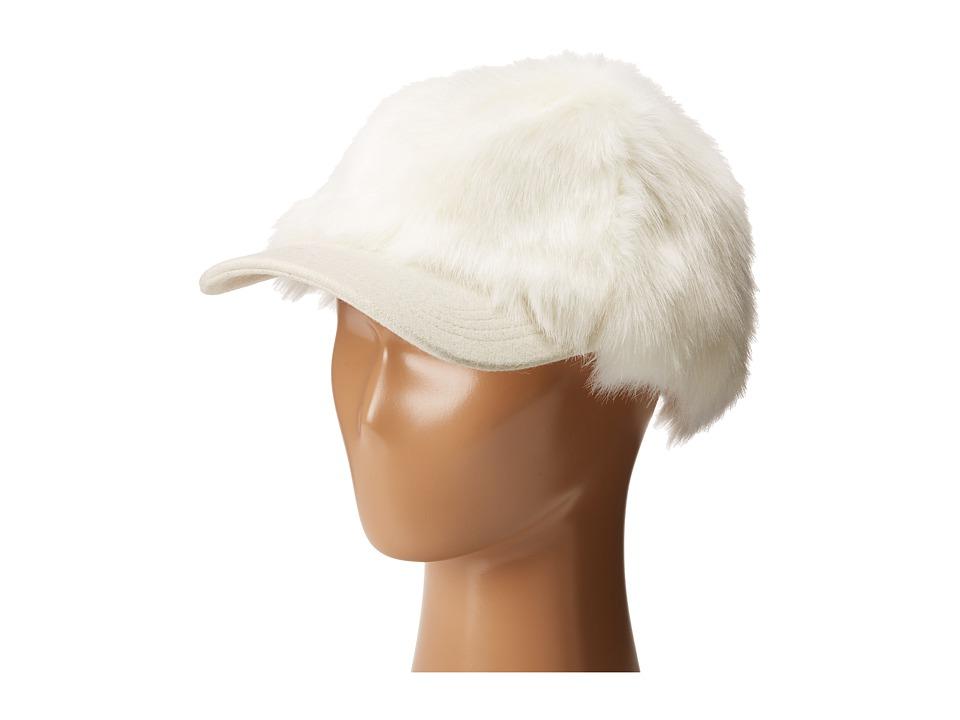 BCBGMAXAZRIA - Faux Fur Baseball Cap (Foam) Caps