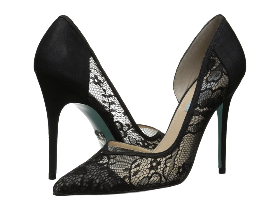 Blue by Betsey Johnson - Grace (Black Satin) High Heels
