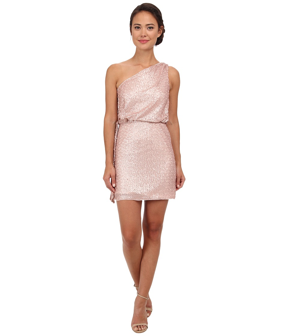 Aidan Mattox - One Shoulder Sequin Cocktail Dress (Petal) Women's Dress
