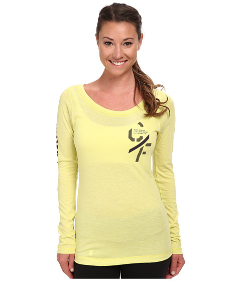 Reebok - CrossFit Graphic Long Sleeve (Chartreuse) Women