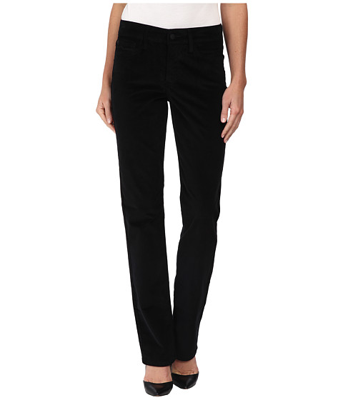 NYDJ - Marilyn Straight Corduroy (Black 1) Women's Casual Pants