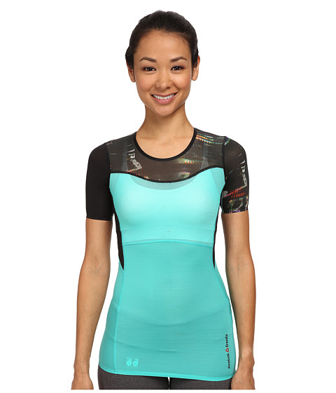 Reebok - CrossFit Shadow II Compression Tee (Timeless Teal) Women's Clothing