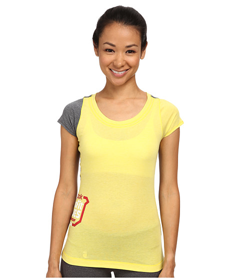 Reebok - CrossFit 2014 Games Tri-Blend Tee (Yellow/Reebok Navy) Women's Clothing