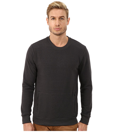 Alternative - Eco Stretch Mock Twist Commuter Crew Neck (Eco Black) Men