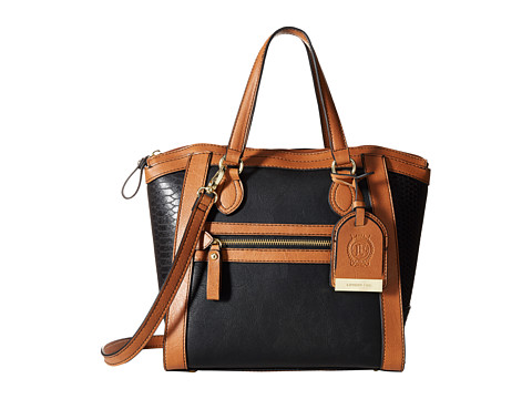London Fog - Fielding Satchel (Black) Satchel Handbags