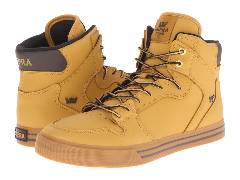 Supra Vaider (Amber Gold/Light Gum) Skate Shoes