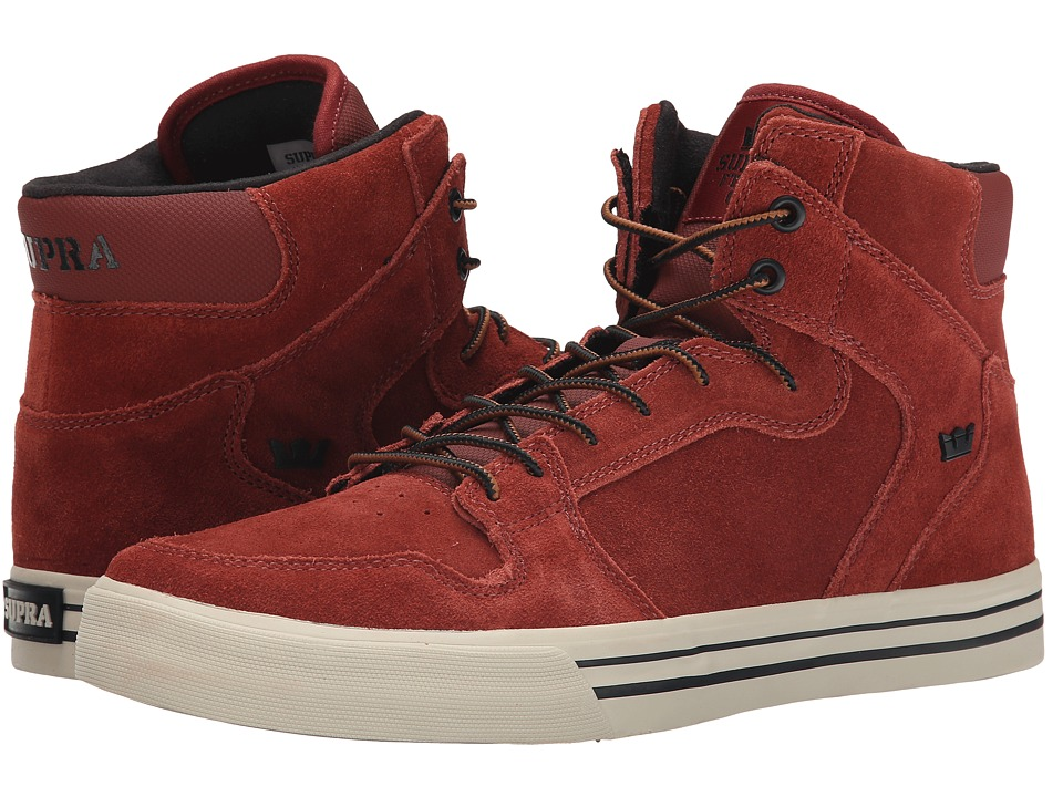 Supra - Vaider (Burnt Henna/Bone/White) Skate Shoes