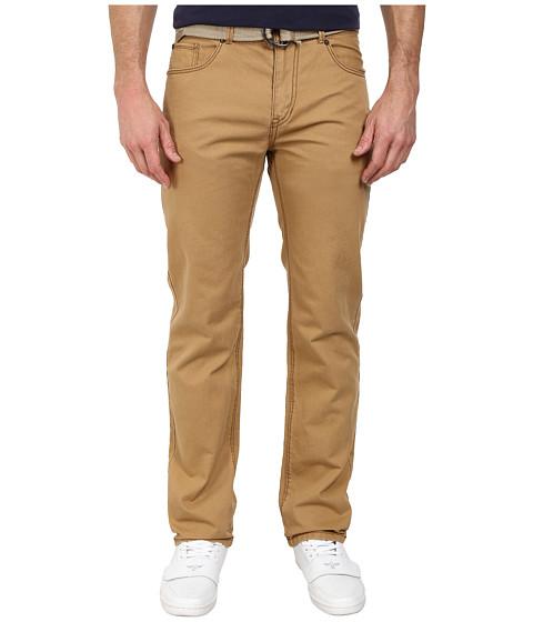 UNIONBAY - Belted Straight Five-Pocket Pants (Rye/Belt) Men's Casual Pants