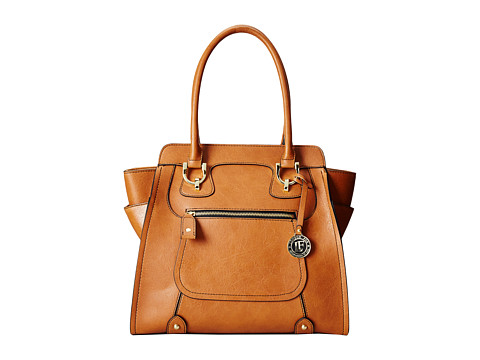 London Fog - Knightsbridge North/South Tote (Cognac) Tote Handbags