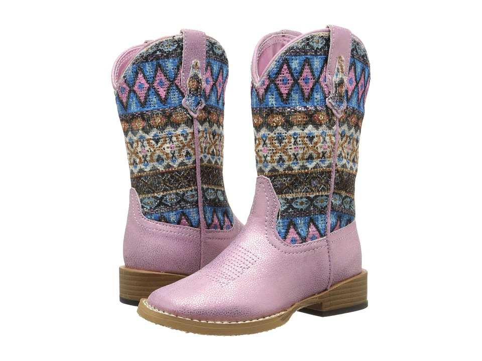 Roper Kids - Aztec (Toddler/Little Kid) (Pink) Cowboy Boots