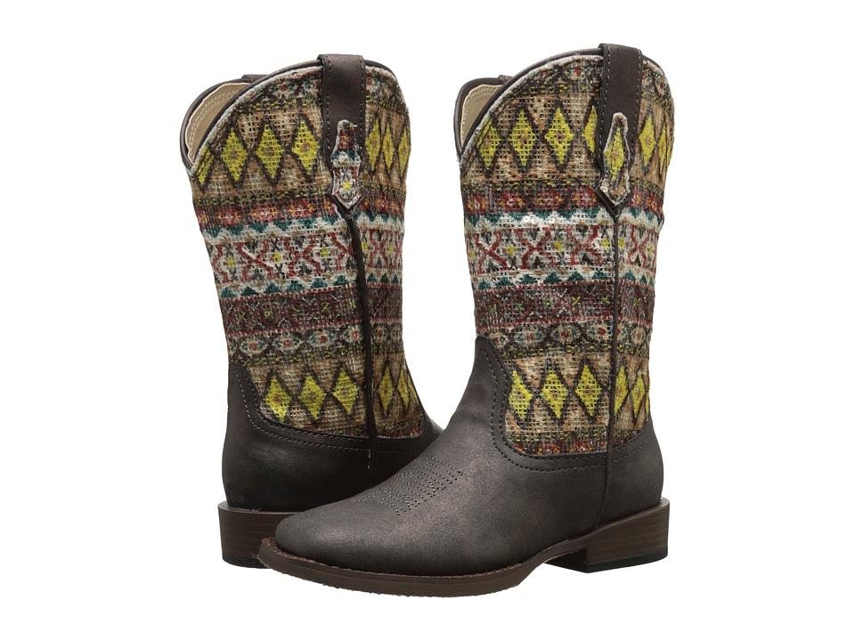 Roper Kids Aztec (Toddler/Little Kid) (Brown) Cowboy Boots