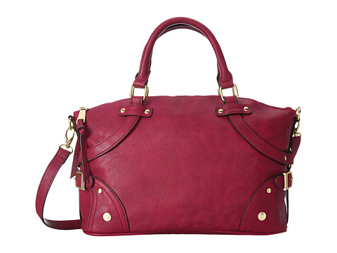 London Fog - Phoebe East/West Satchel (Garnet) Satchel Handbags