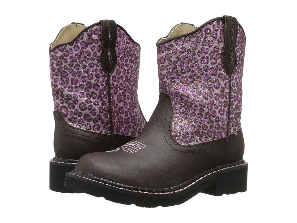 Roper Kids - Cheetah (Toddler/Little Kid) (Pink) Cowboy Boots