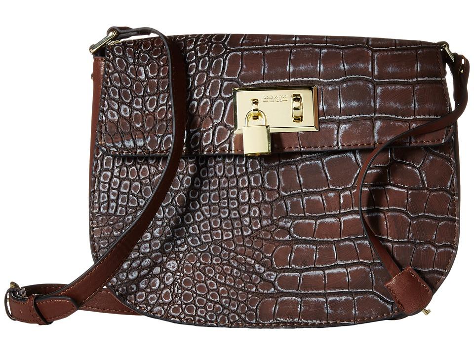 London Fog - Hudson Saddle Bag (Mahogany) Cross Body Handbags