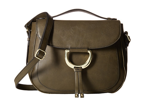London Fog - Benson Saddle Bag (Olive) Bags