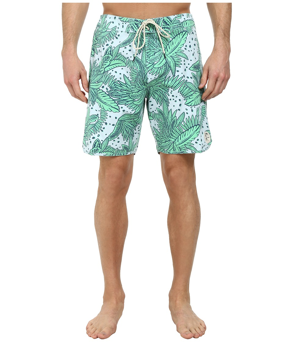 O'Neill - Santa Cruz Original Scallop Print Boardshorts (Sky Blue) Men's Swimwear