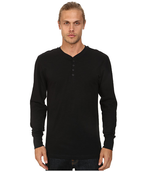 J.A.C.H.S. - Limited Edition Henley (Jet Black) Men's Long Sleeve Pullover