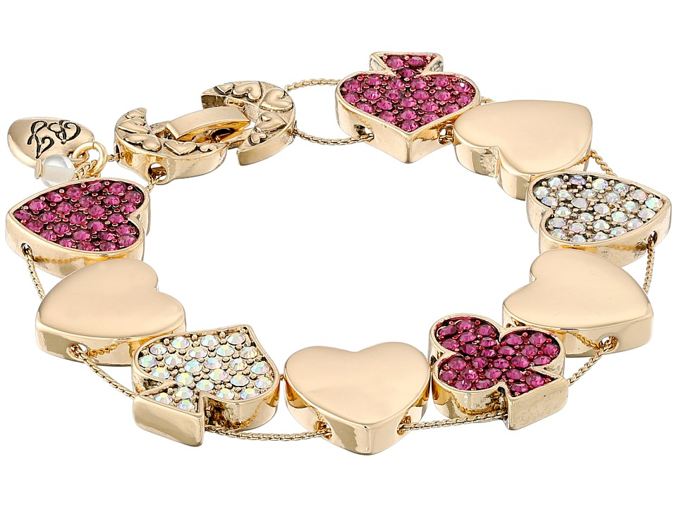 Betsey Johnson - Casino Royale Bracelet (Pink/Crystal) Bracelet