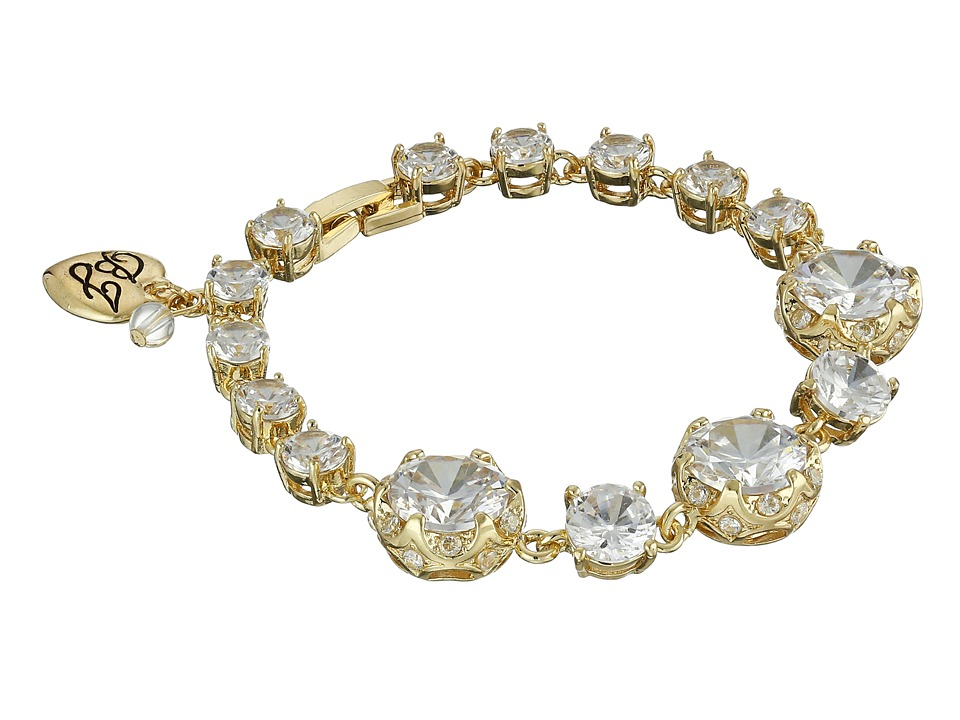 Betsey Johnson - All That Glitters Cubic Zirconia Gold Bracelet (Crystal) Bracelet