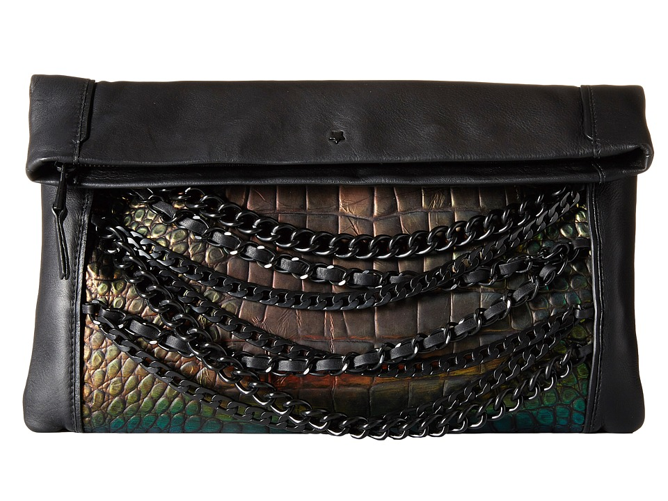 ASH - Domino Croco Clutch (Metallica) Handbags