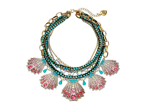 Betsey Johnson - Ocean Drive Necklace (Pink/Multi) Necklace