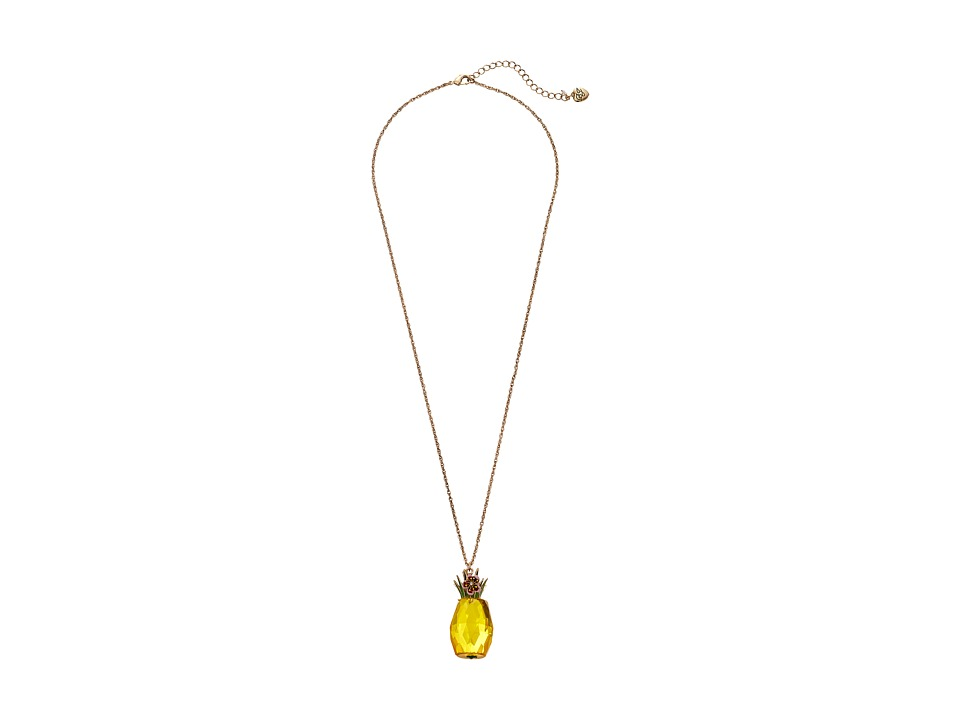 Betsey Johnson - Tutti Fruity Necklace (Yellow) Necklace